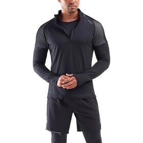 2XU GHST T-shirt manches longues avec Fermeture éclair 1/2 Homme, black/white